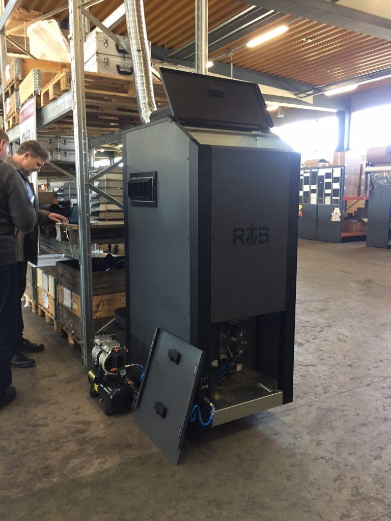 Nouveau : Chaudière à granulés RTB AIR, Générateur d'air chaud : 20 ou 30kW